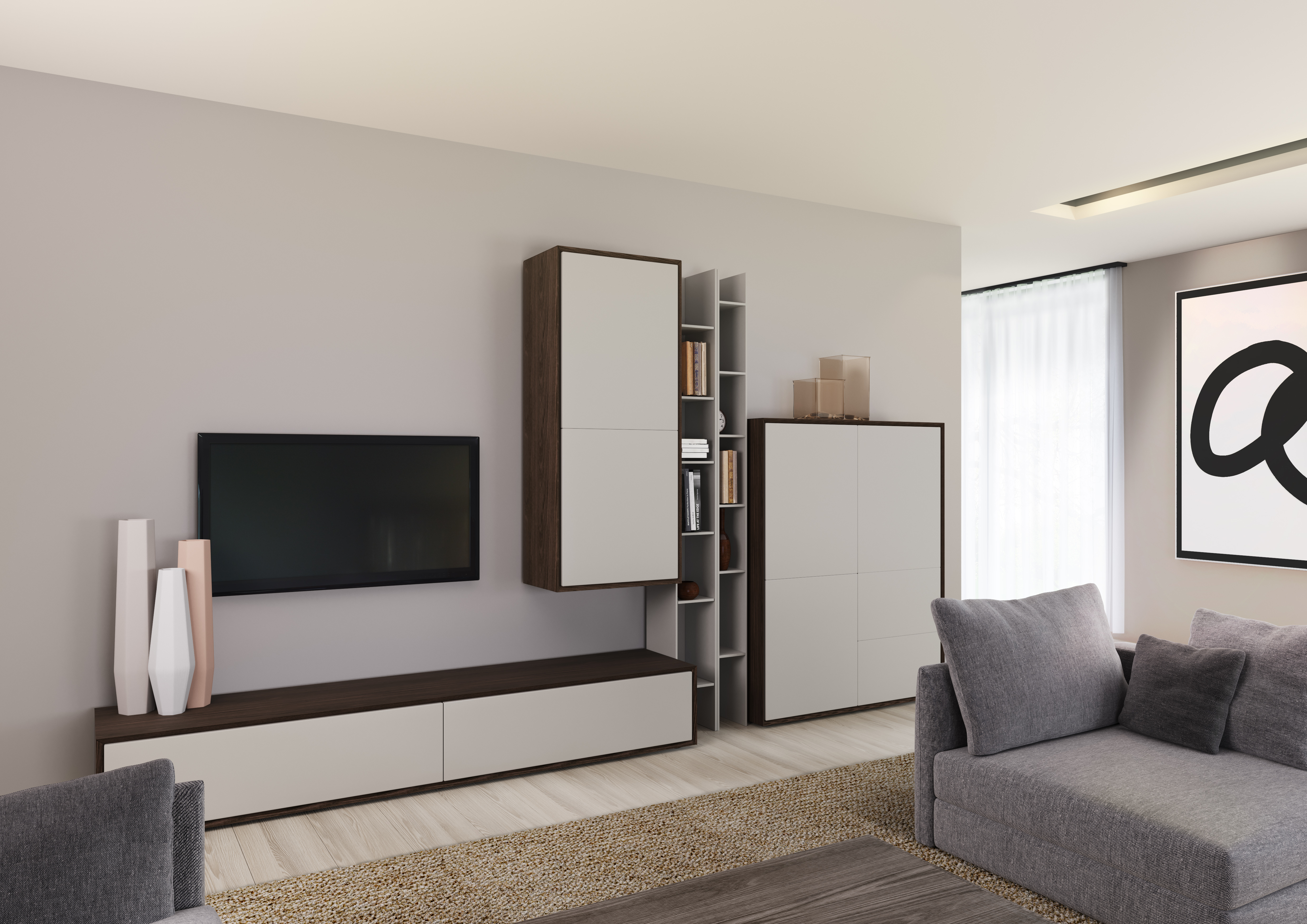 Meuble tv edge mobilier confort for Salle a manger kyara